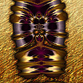Gilded Fractal 11  by Ann Stretton