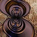 Gilded Fractal 2 by Ann Stretton