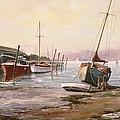 Gillingham Pier On The Medway by Vic Trevett