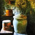 Ginger Jar And Buckets by Susan Savad