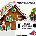 Gingerbread House Xmas Card 2 by Bruce Iorio