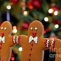 Gingerbread Men In A Line by Amy Cicconi
