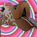 Giraffe Lick by Yanito Freminoshi