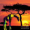 Giraffe Painting by Marvin Blaine