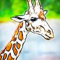 Giraffe Scrimshaw by Steve McKinzie
