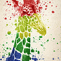 Giraffe Splash by Aged Pixel