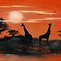 Serengeti Sunset Sold by Cynthia Adams
