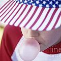 Girl American Baseball Cap by Jim Corwin