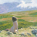 Girl And Cloud by Denis Chernov