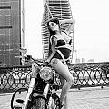 Girl And Harley-davidson by Oleg Koryagin