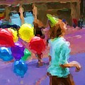Girl And Her Balloons by Alice Gipson
