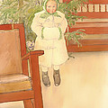 Girl And Rocking Chair by Mountain Dreams
