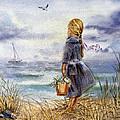 Girl And The Ocean by Irina Sztukowski
