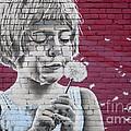 Girl Blowing A Dandelion by Chris Dutton