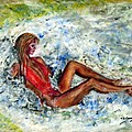 Girl In A Red Swimsuit by Tom Conway