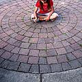 Girl In Circle by Gene Tatroe