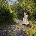 Girl In Country Lane by Amanda Elwell