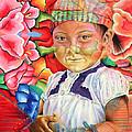 Girl In Flowers by Karina Llergo