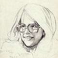 Girl In Glasses by Robert Tracy