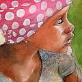 Girl In Pink Bandanna by Gregory DeGroat