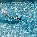 Girl In Pool by Peter Lloyd