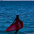 Girl In Red Float by Ed Gleichman
