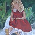 Girl In The Garden by Sharon Schultz