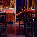 Girl Inside The Cafe by Lorraine Devon Wilke