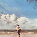 Girl On Beach by Pixel Chimp