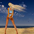 Girl On The Beach... by Tim Fillingim