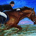 Girl Riding Her Horse II by Xueling Zou