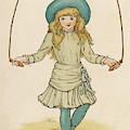 Girl Skipping by Mary Evans Picture Library