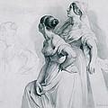 Girl Studies  1839 by Daniel Hagerman