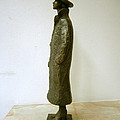 Girl With A Coat And Hat by Nikola Litchkov