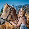 Girl With A Horse by Oleg Koryagin