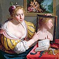 Girl With A Mirror, An Allegory by Paulus Moreelse