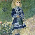 Girl With A Watering Can by Auguste Renoir