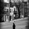 Girl With Dog - Somewhere In America by Miriam Danar