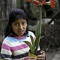 Girl With Flower by Steven Ralser