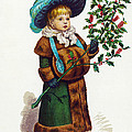 Girl With Holly by Mary Evans
