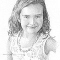 Girl With Necklace Pencil Portrait by Mike Theuer