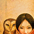 Girl With Owl by Shijun Munns