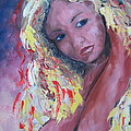 Girl with yellow hair