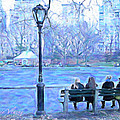 Girls At Pond In Central Park by Femina Photo Art By Maggie