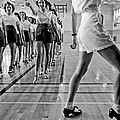 Girls In A Tap Dancing Class by Underwood Archives