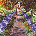 Giverny Gardens Pathway After Monet  by Carol Wisniewski