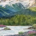 Glacier Creek Summer Evening by Sharon Freeman