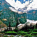 Glaciers Along Plain Of Six Glaciers Trail In Banff Np-alberta by Ruth Hager