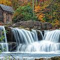 Glade Creek Grist Mill And Waterfalls by Lori Coleman