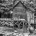 Glade Creek Grist Mill Bw by Steve Harrington